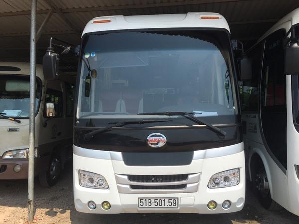 Xe du lịch Á Châu cho thuê xe 29 chỗ Isuzu Samco đi Đà Lạt