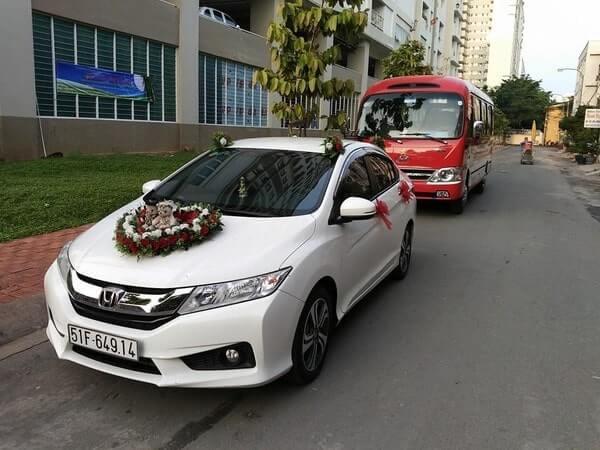 Thuê xe đám cưới Honda City uy tín giá rẻ TPHCM