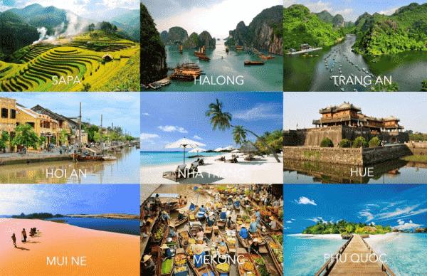 Những khu du lịch nổi tiếng tại Việt Nam