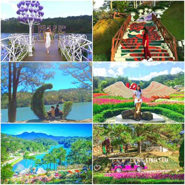 Đà Lạt có nhiều cảnh đẹp nổi tiếng