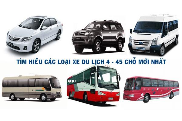 Các loại xe du lịch tùy theo số lượng người
